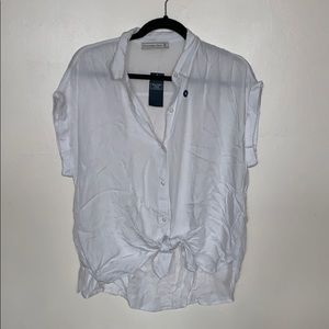 Abercrombie & Fitch short sleeve button down Sz M!